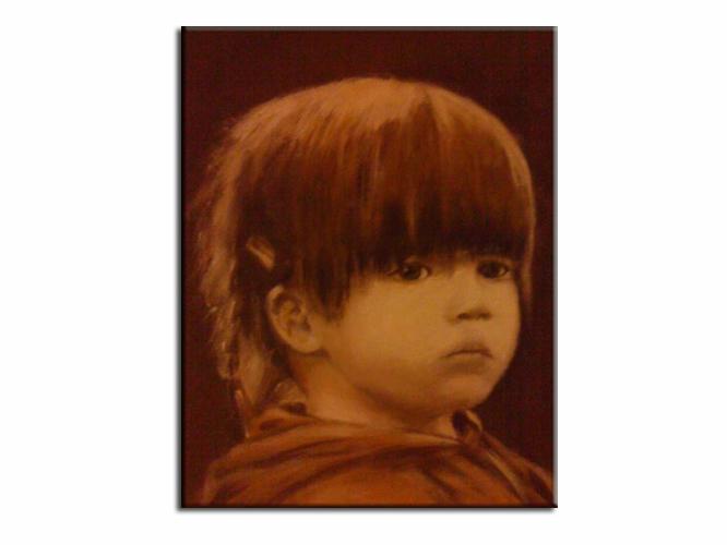 Malerei, Acrylmalerei, Portrait,