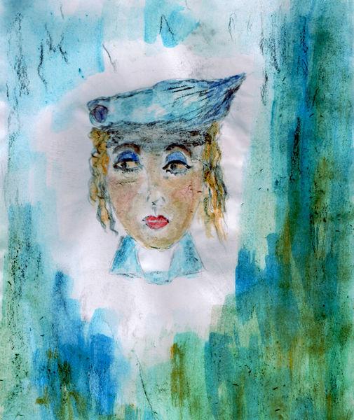 Blau, Augen, Rechts, Malerei