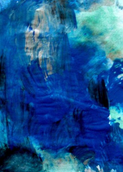 Abstrakt, Blau, Farben, Malerei