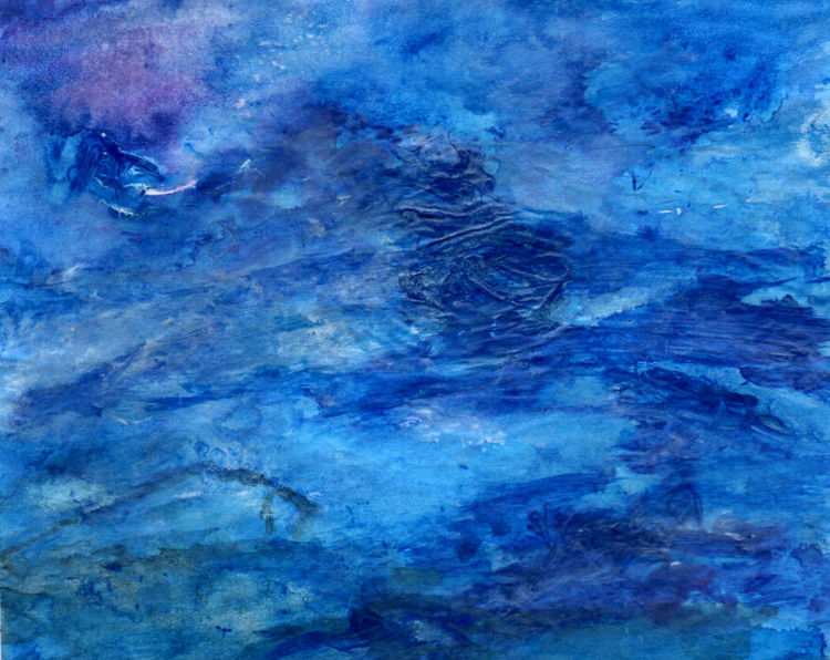 Fisch, Sturm, Meer, Malerei
