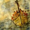 Boot, See, Passagier, Malerei