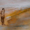 Einsamkeit, Allein, Gelb, Malerei