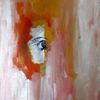 Frau, Gesicht, Rot, Malerei