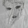 Gesicht, Portrait, Schwarz weiß, Malerei