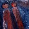 Vogel, Menschen, Rot, Malerei