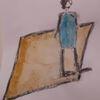 Karikatur, Redensart, Teppich, Malerei