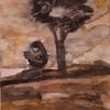 Trauer, Frau, Kind, Malerei