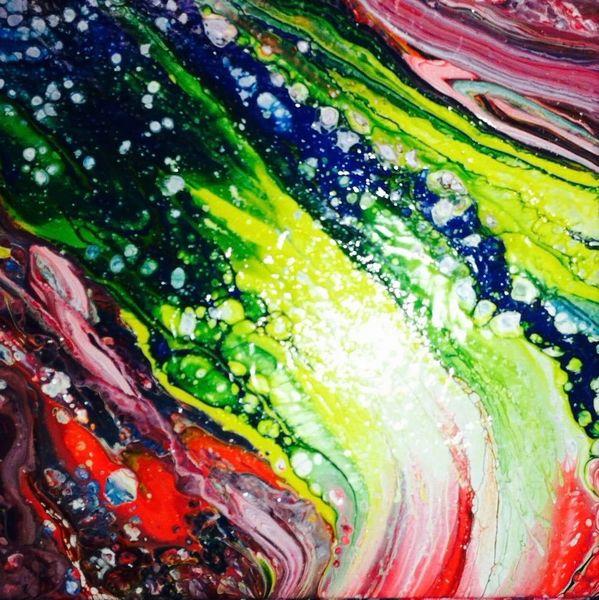 Fluid painting, Abstrakt, Acrylmalerei, Malerei