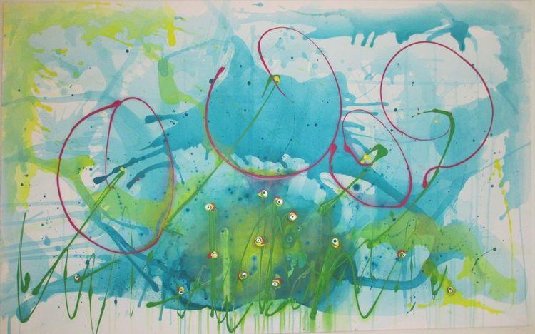 Modern, Farben, Abstrakt, Malerei