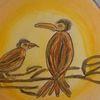 Vogel, Kreis, Rabe, Abendhimmel