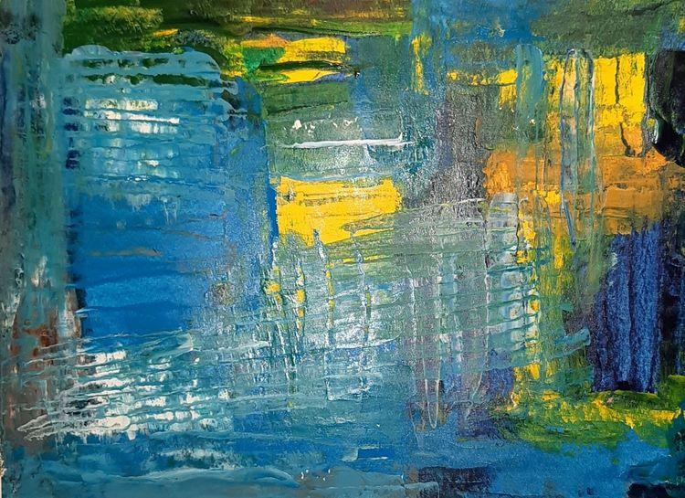 Abstrakt, Mosaik, Acrylmalerei, Malerei