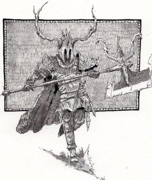 Krieger, Tinte, Rtter, Mittelalter, Zeichnung, Wiking