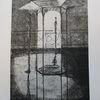Schwarz, Weiß, Pavillon, Druckgrafik