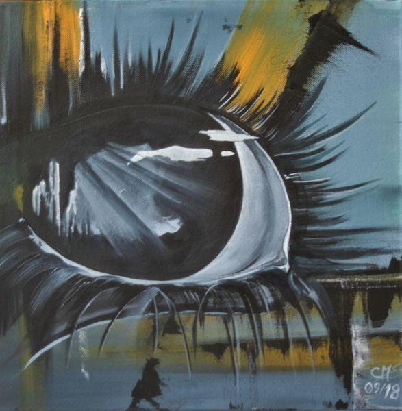 Mimik, Modern art, Augen, Blau, Ausdruck, Schwarz