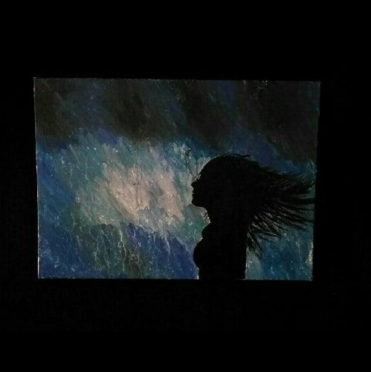 Farben, Malerei, Acrylmalerei, Regen, Frau