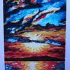 Landschaft, Farben, Berge, Ölmalerei