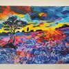 Landschaft, Sonne, Baum, Farben