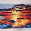 Farben, Meer, Malerei, Boot