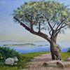 Griechenland, Baum, Meer, Studie