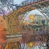Reflexion, Blaue stunde, Brücke, Fluss