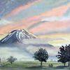 Morgenstimmung, Fujiyama, Nebel, Morgenröte