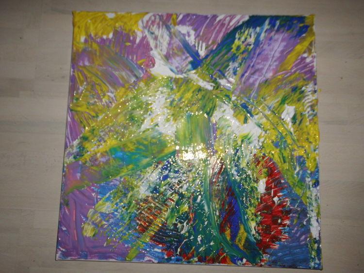 Malen, Bunt, Abstrakt, Malerei,