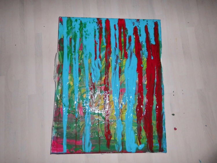 Abstrakt, Acrylmalerei, Dekoration, Bunt, Wandbild, Malerei