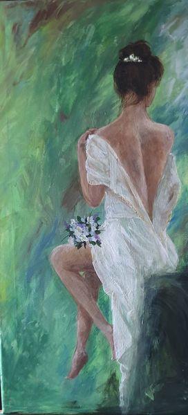 Kleid, Rose, Rot, Blau, Brautkleid, Holz
