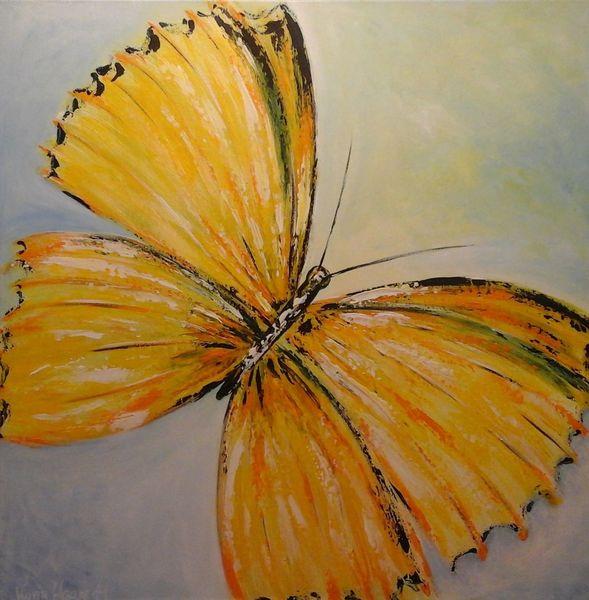 Schmetterling, Küche, Acrylmalerei, Bunt, Modern art, Gelb