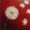 Malerei, Pusteblumen, Modern, Bunt