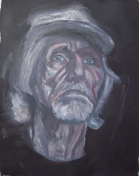 Monochrom, Malerei, Mann
