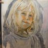 Malerei, Mädchen, Portrait, Ölmalerei