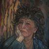 Nachdenklich, Ölmalerei, Frau, Malerei