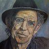 Malerei, Musiker, Ölmalerei, Portrait