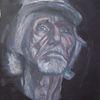 Mann, Monochrom, Malerei