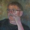 Mann, Bart, Portrait, Malerei