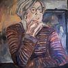 Frau, Malerei, Portrait,