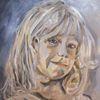 Portrait, Ölmalerei, Malerei, Mädchen