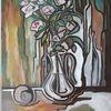 Malerei, Weiß, Rose, Ende