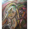 Acrylmalerei, Frau, Mann, Malerei
