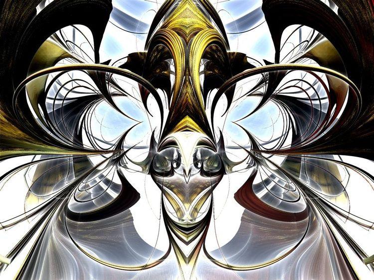 Abstrakt, Modern, Zukunft, Digitale kunst
