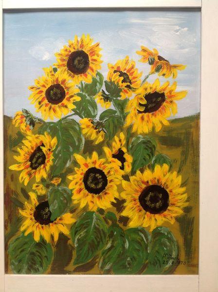 Pflanzen, Sonnenblumen, Landschaft malerei, Malerei