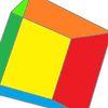 Farben, Mathematik, Würfel, Digitale kunst