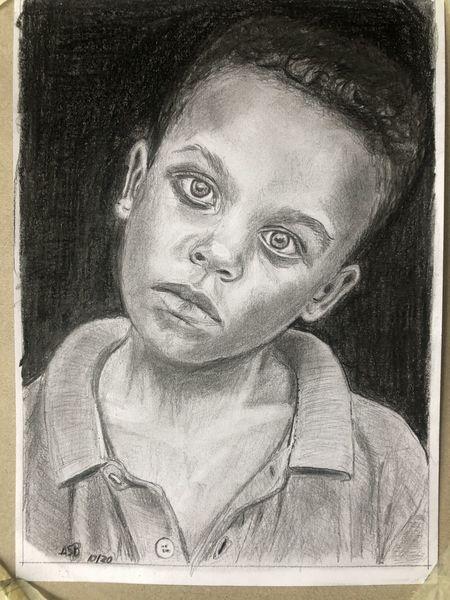 Junge, Traurig, Bleistiftzeichnung, Zeichnungen