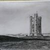 England, Broadway, Turm, Zeichnungen