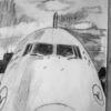Ruhen, Flugzeug, Bleistiftzeichnung, Zeichnungen