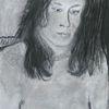 Frau, Bleistiftzeichnung, Kreide, Zeichnungen