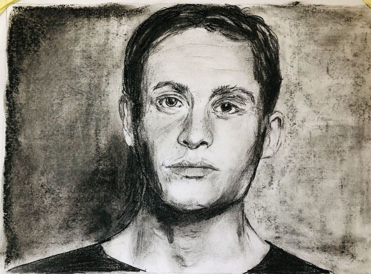 Schauspieler, Bleistift mit kohle, Zeichnungen,