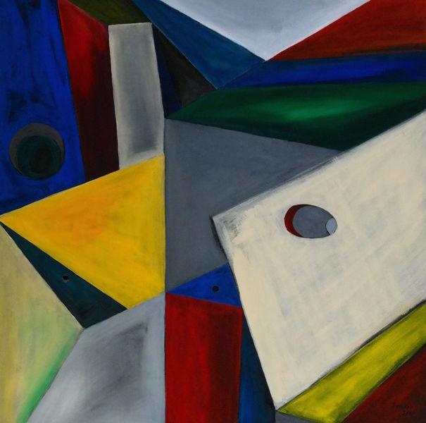 Konstruktion, Formen, Acrylmalerei, Malerei, Konstruktivismus