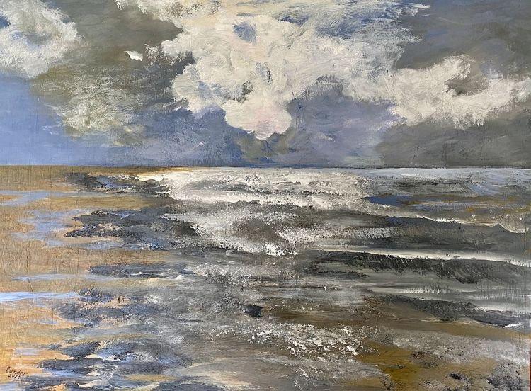 Meer, Wasser, Himmel, Malerei, Landschaft und natur, Nordsee